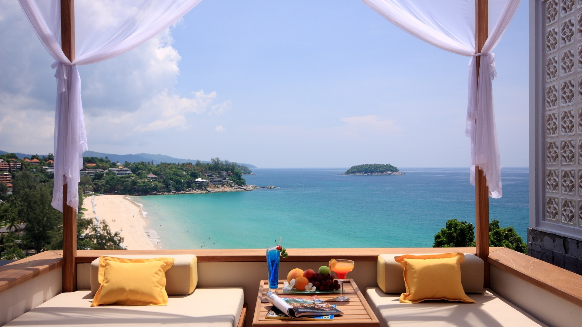 terrace summer travel tropical relaxation luxury chair water sky vacation sand idyllic sun hotel nature beach fair weather ocean exotic sea