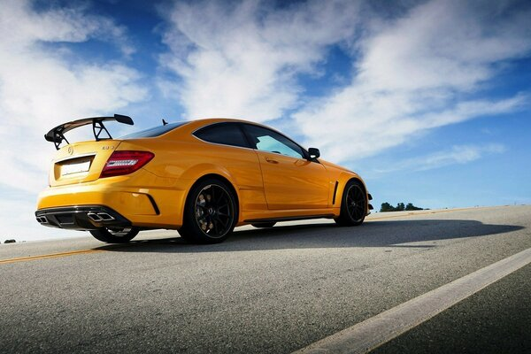 Mercedes C63 AMG Black Series on the road