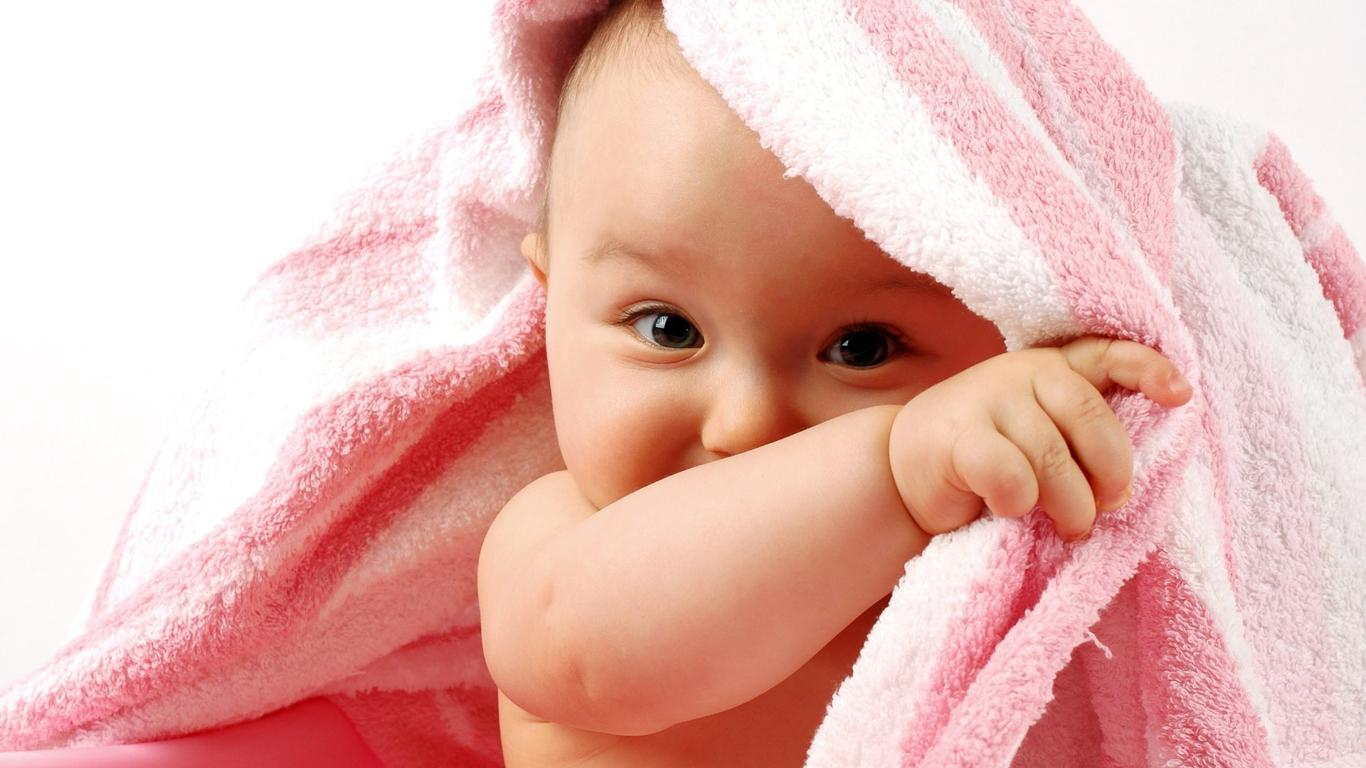 babies baby child cute little skin towel clean newborn bath innocence face beautiful