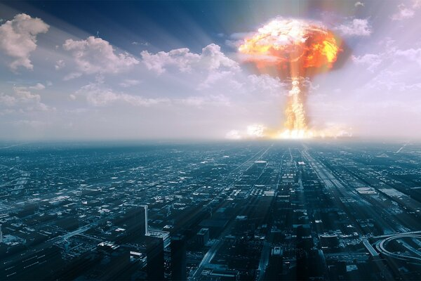 A nuclear explosion in the city