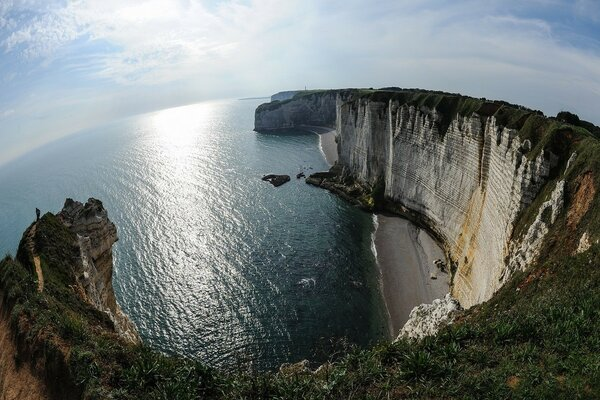 The resort town of Etretat. Normandy. France. Author: Michael