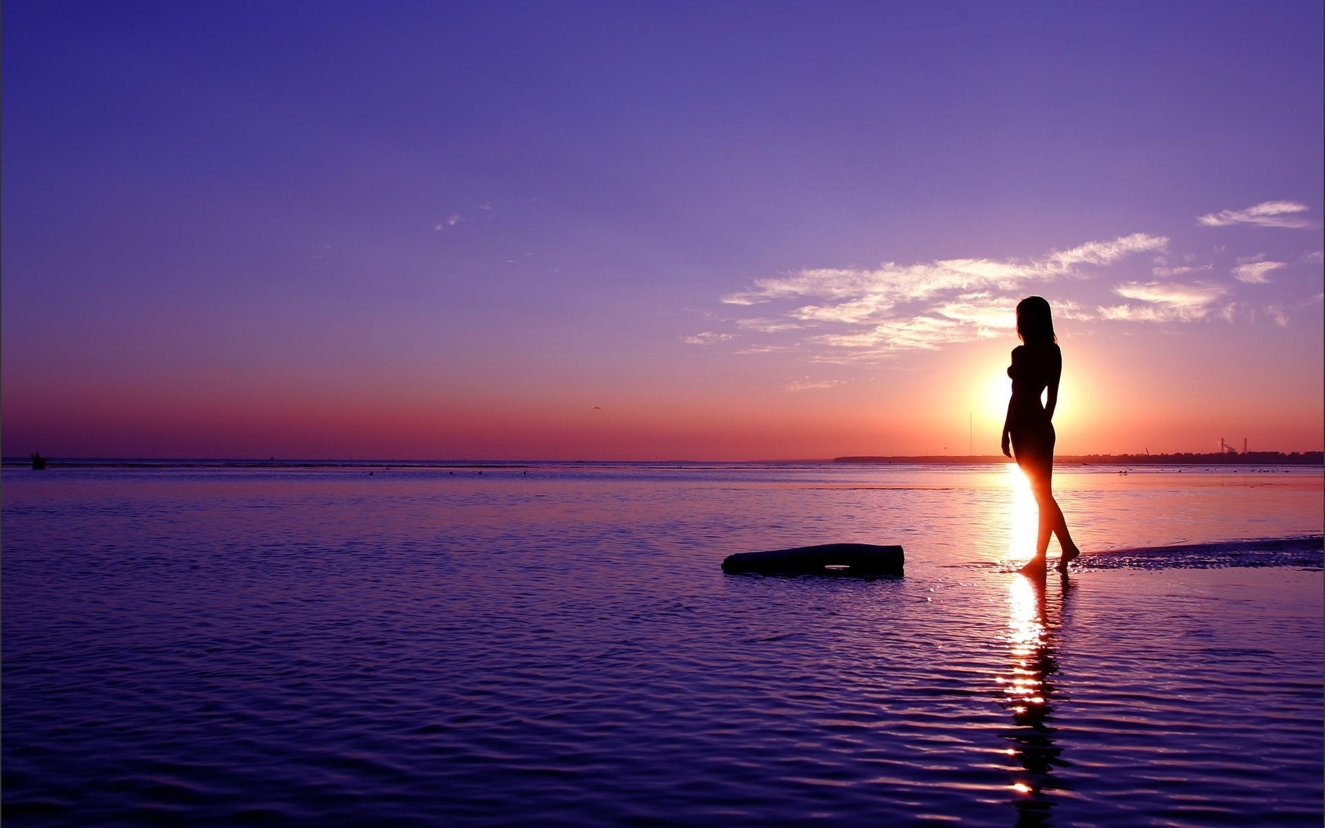 A Girl Admiring The Sunset IPhone Wallpapers For Free