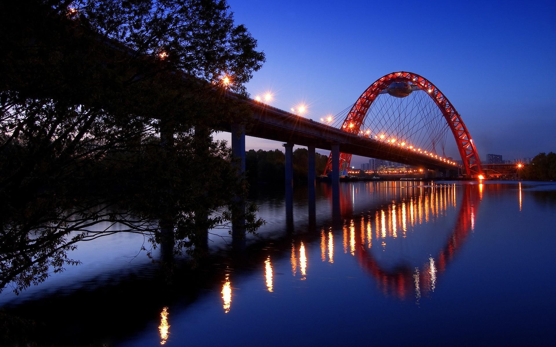 Мост река сумерки  № 3030607 загрузить