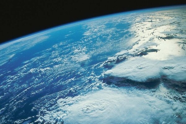 Earth from space an incipient hurricane