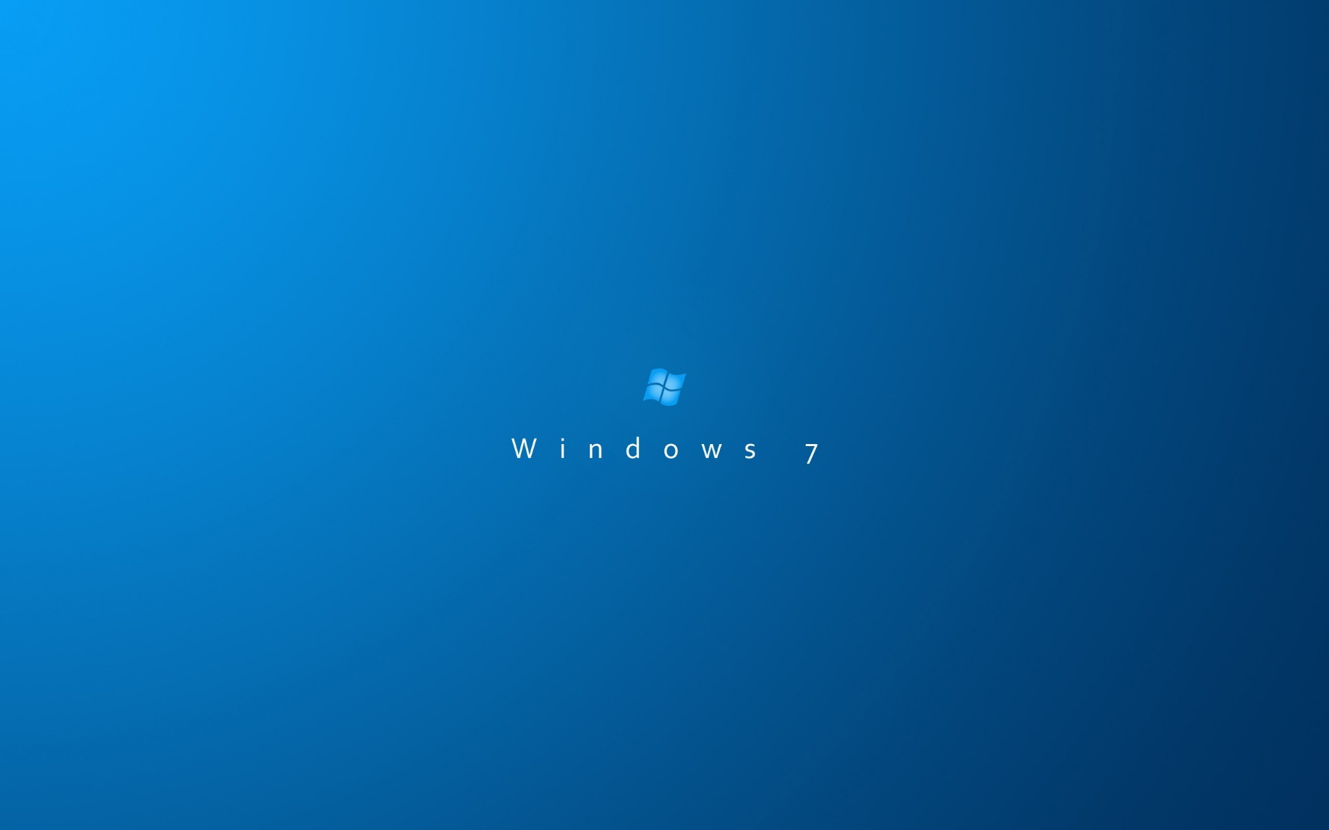 The Windows 7 logo on a blue background