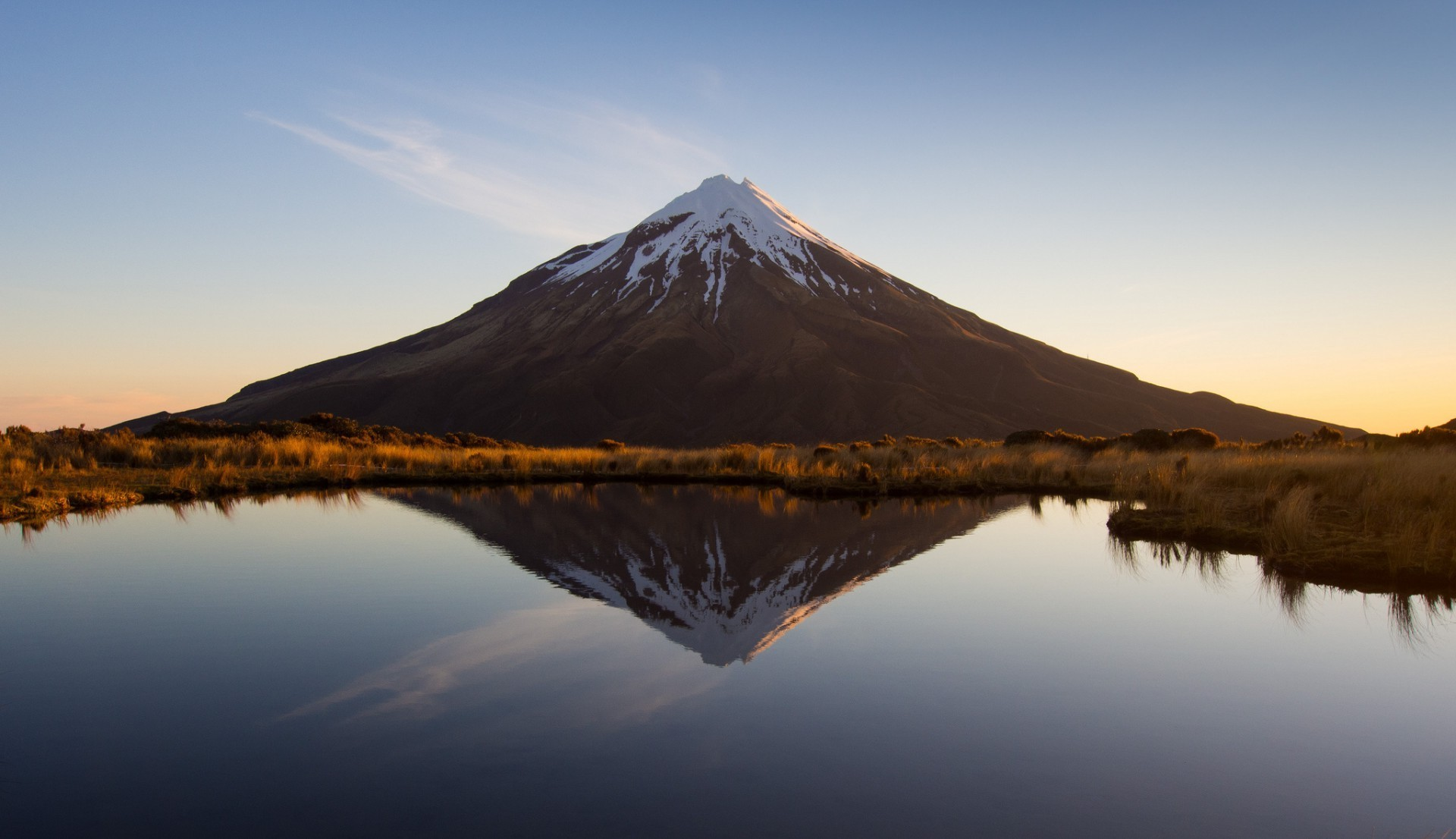 Taranaki volcano in New Zealand