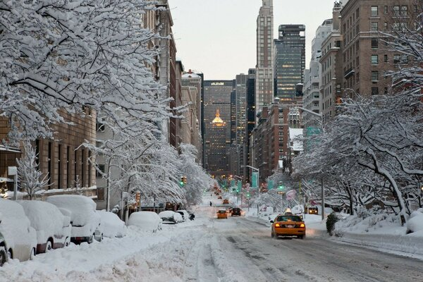 Usa new_york city winter city nyc