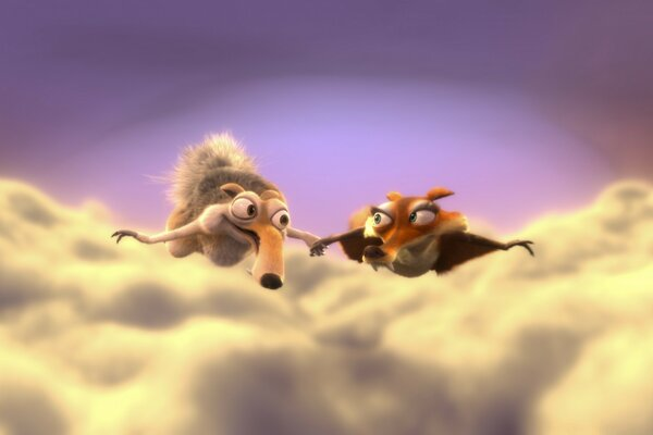 Ice Age 3 Dawn of the Dinosaurs - Scrat and Scratte