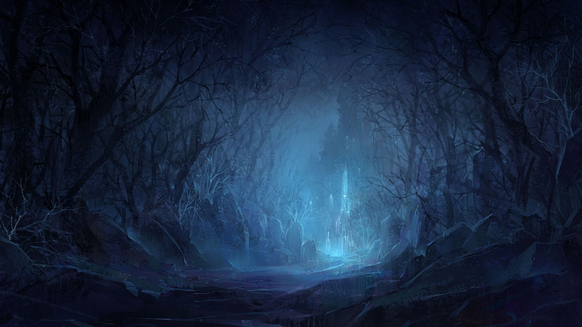 night forest castle android wallpapers for free