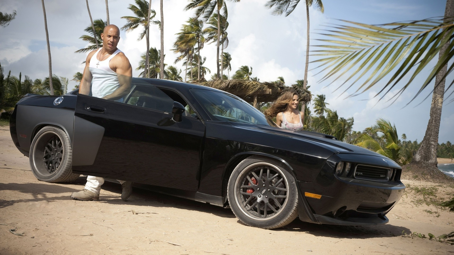 VIN Diesel came to the beach in their cool cars