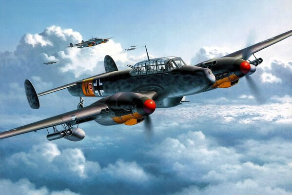 Squadron of Nazi fighter planes is a job
