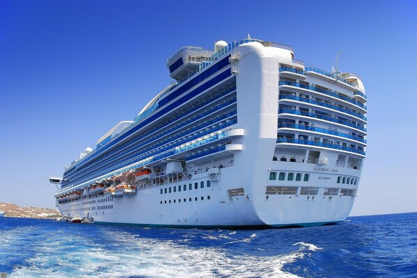 A huge cruise liner RUBY PRINCESS