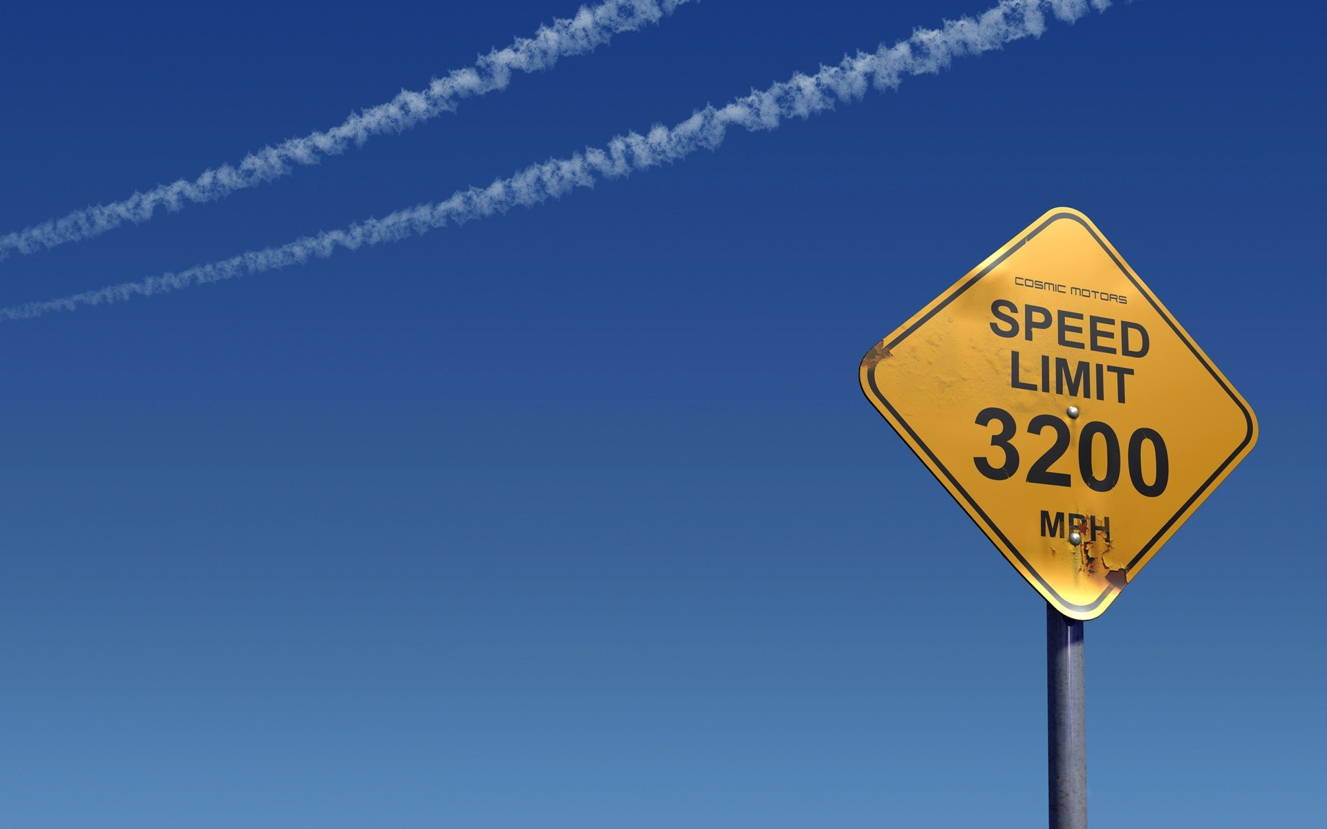 A limit sign speed flight for aircraft