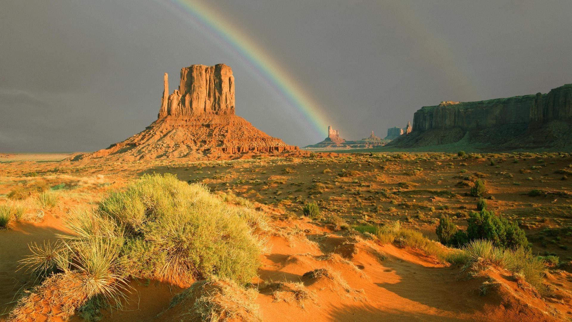Rainbow in the steppe