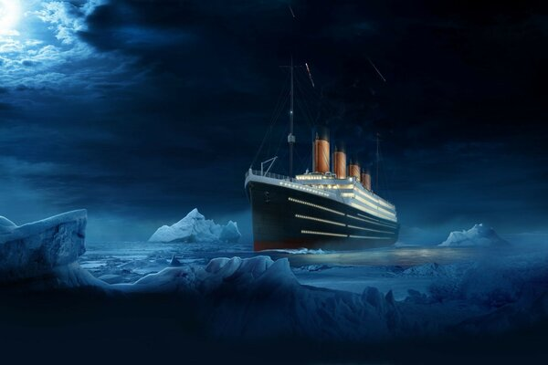 Titanic in the ice