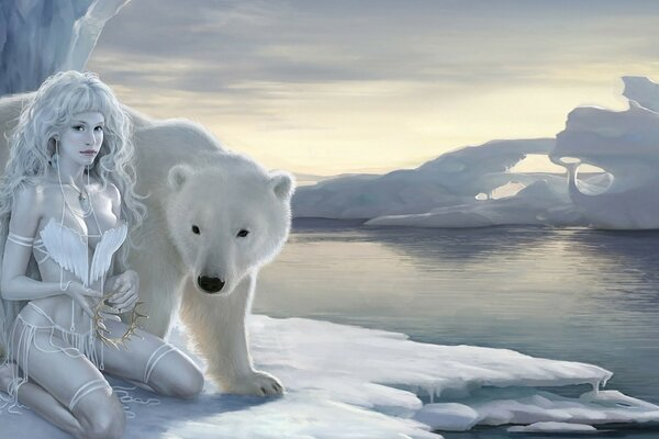 The girl and the polar bear