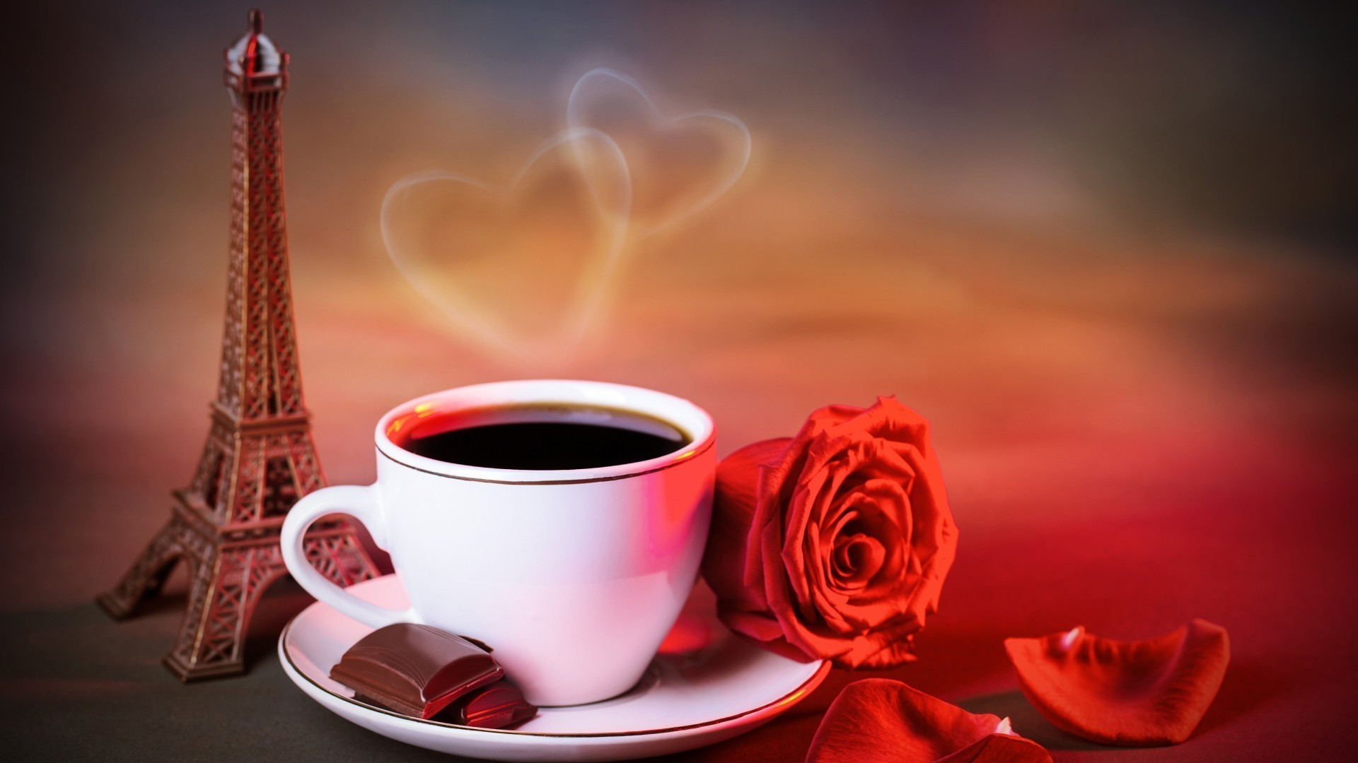 Coffee Lovers Love Hd Wallpapers: Coffee,rose,love,Paris. Android Wallpapers For Free