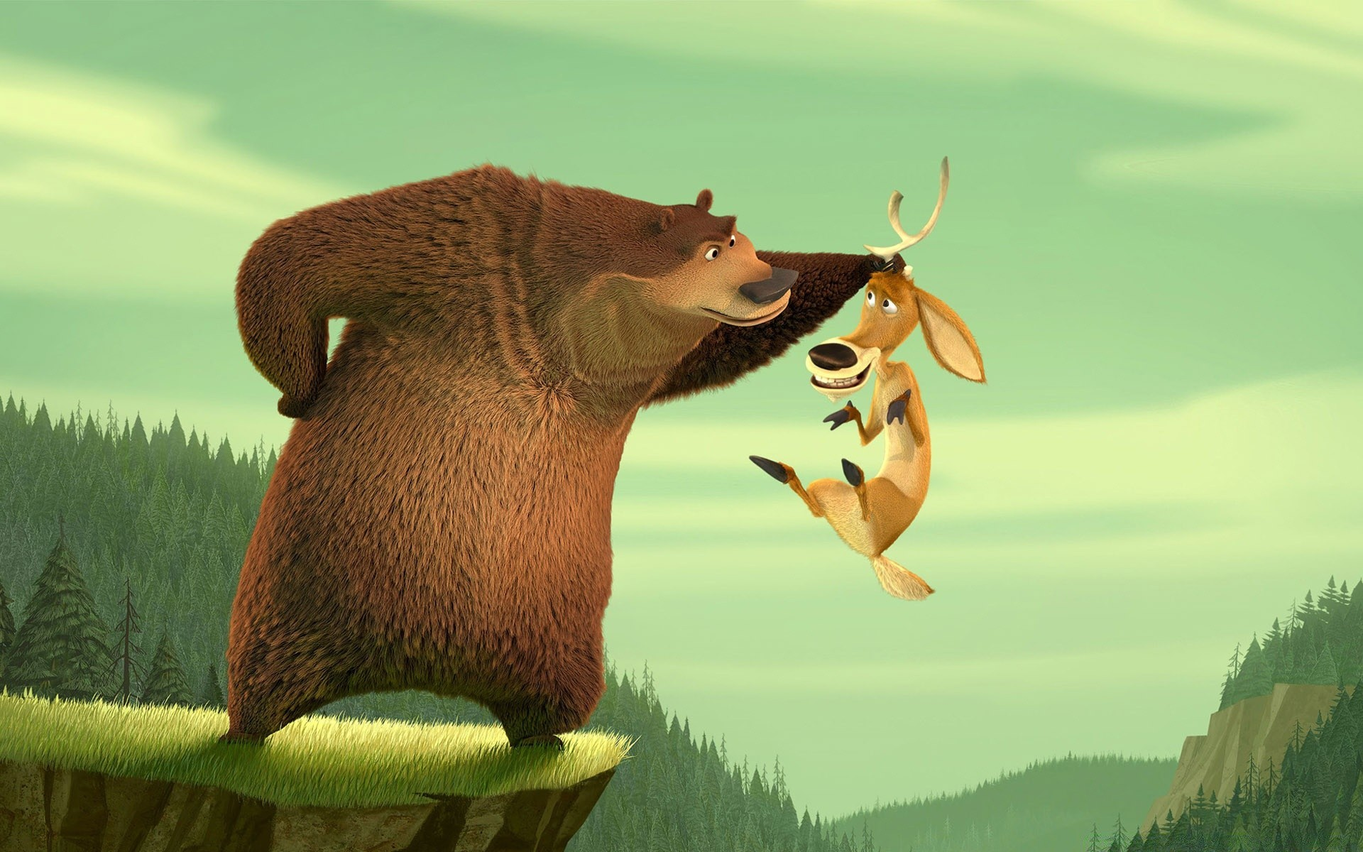 Martin Lawrence As Boog The Grizzly Bear And Ashton Kutcher As