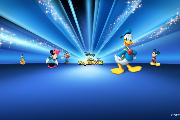 Disney Characters Blue