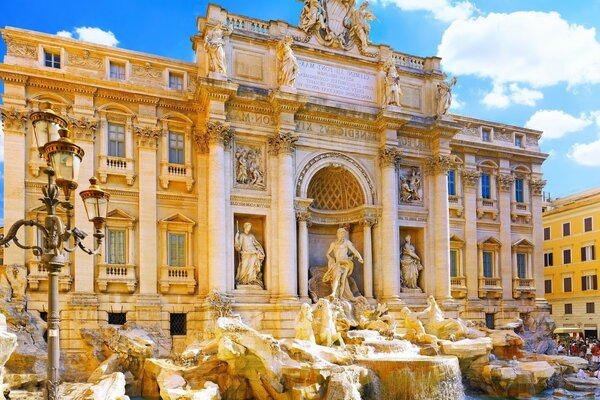 Italy, the Trevi fountain, Rome