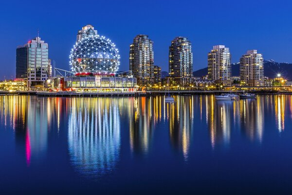 View of the city of Vancouver located in Canada
