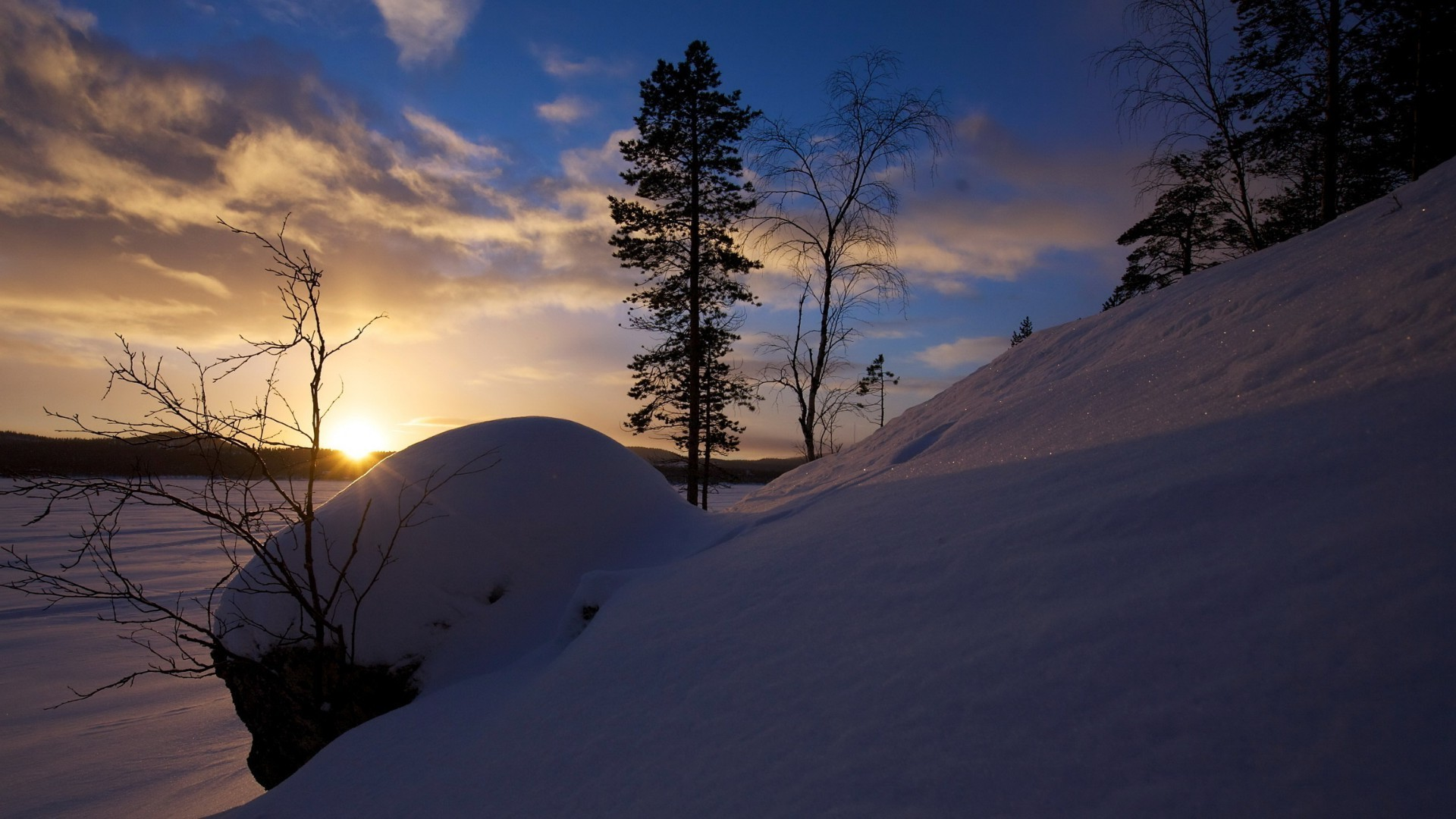 winter snow landscape dawn mountain tree cold sunset weather sky evening scenic light nature ice hill fair weather backlit frozen
