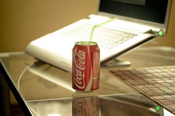 Laptop And Coca Cola