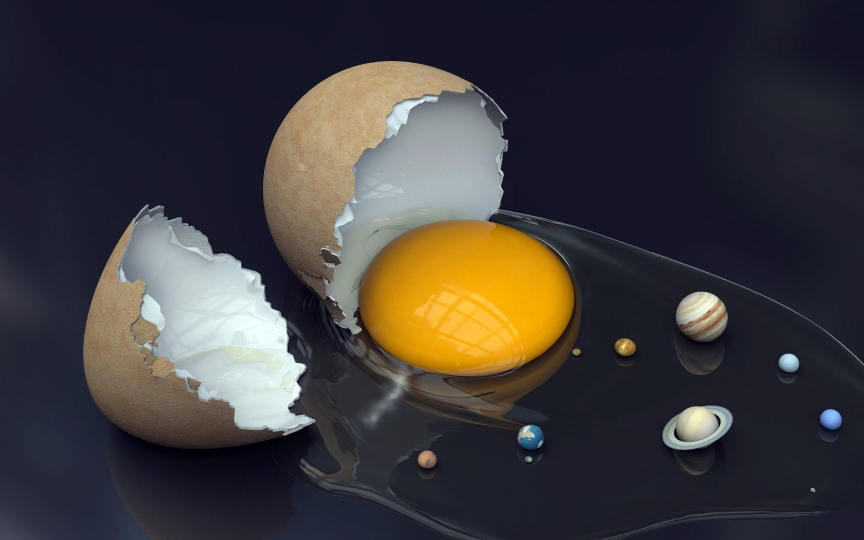 In the beginning God created the egg, and then the solar system