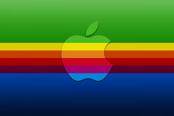 Colorful Apple Background