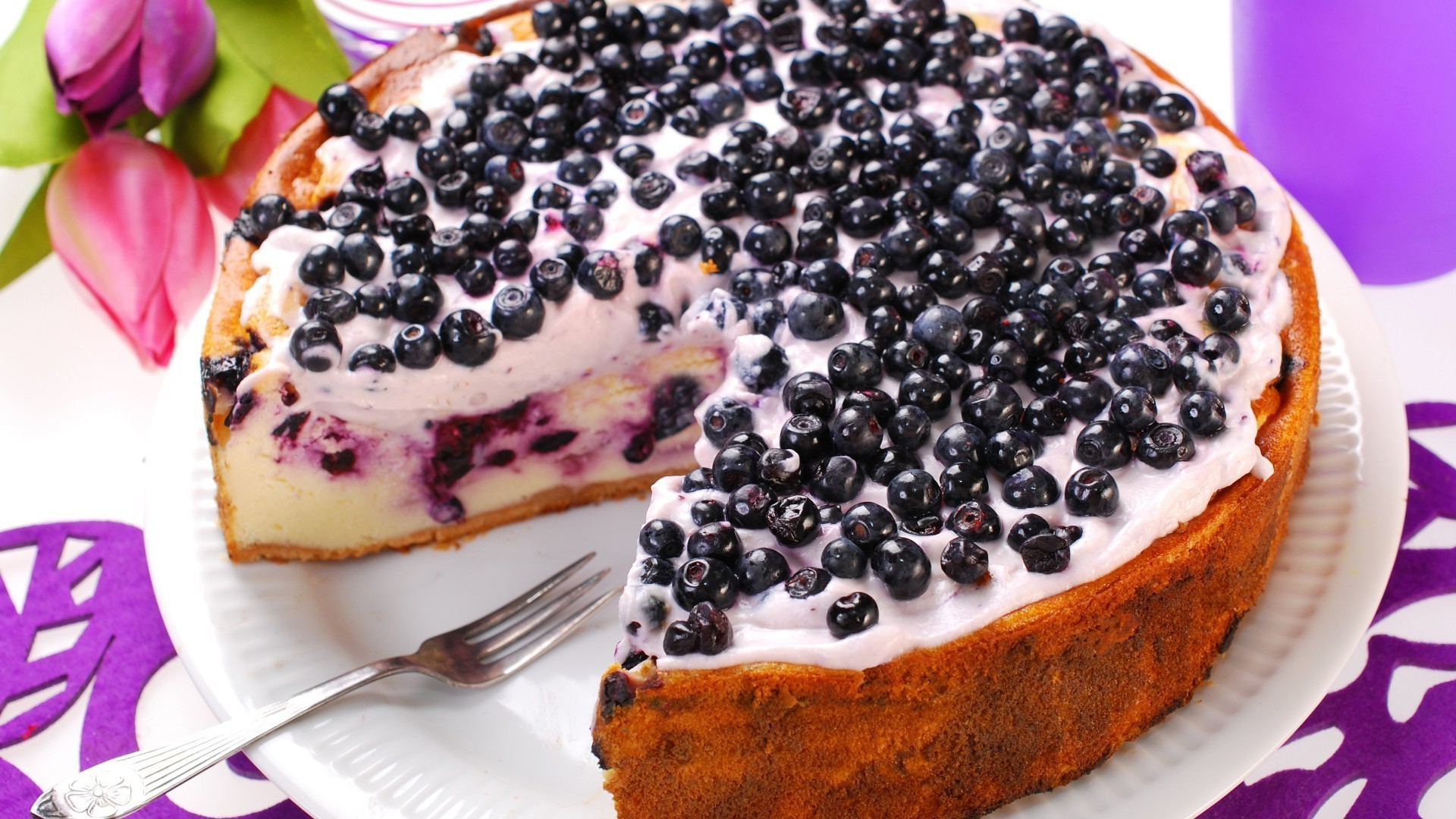 The blueberry cake