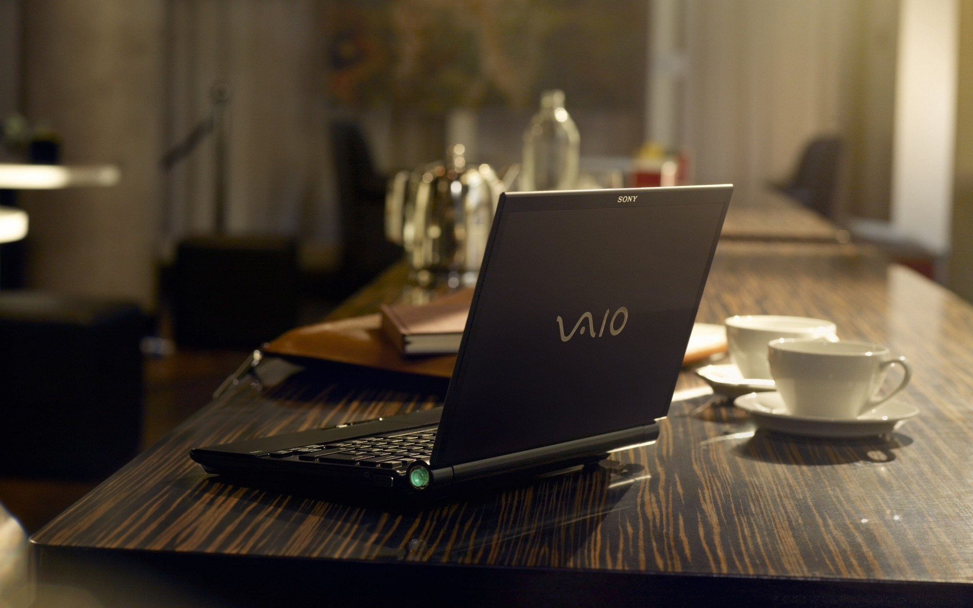 Vaio Table Coffee Indoors Business Laptop Furniture Desk Computer Contemporary Room Office Chair Technology