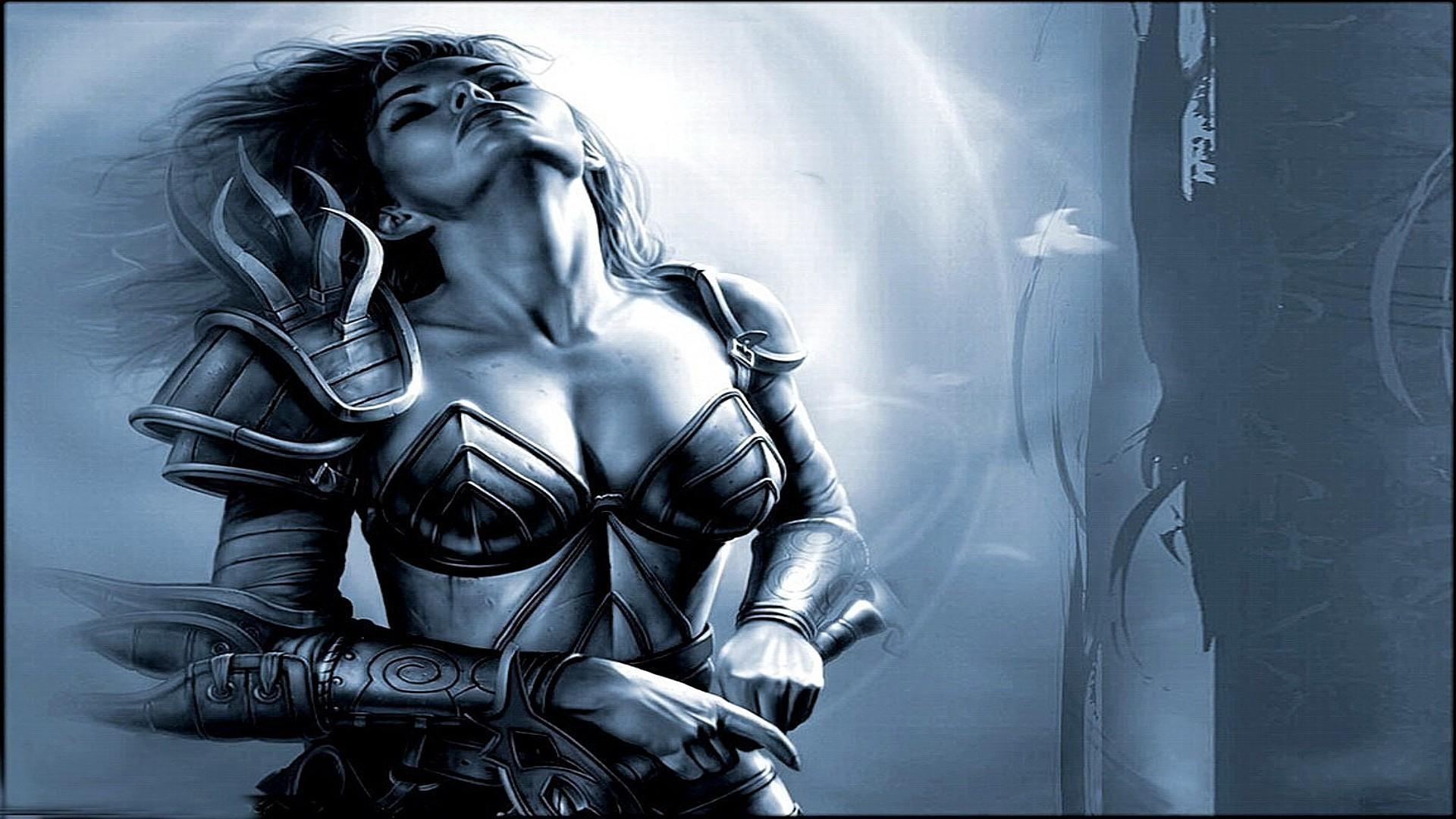 Обои Девушка Рыцарь