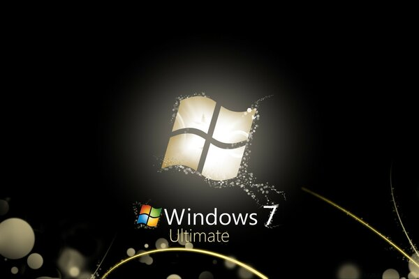 Windows 7 Ultimate Bright Black