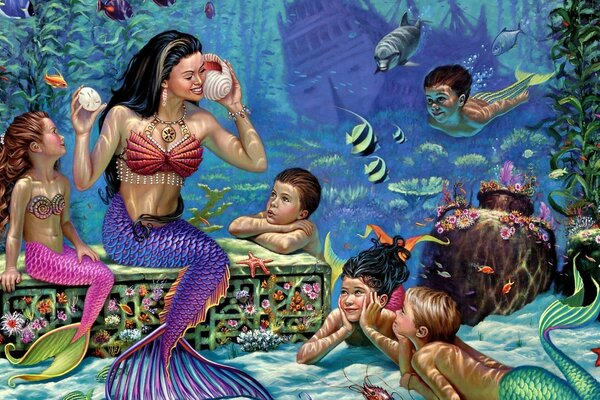 School of mermaids