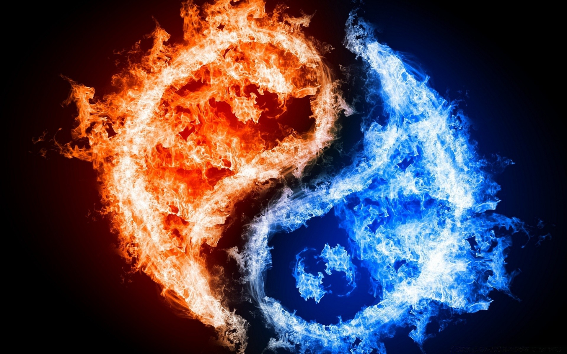 Yin Yang Fire Water Android Wallpapers For Free