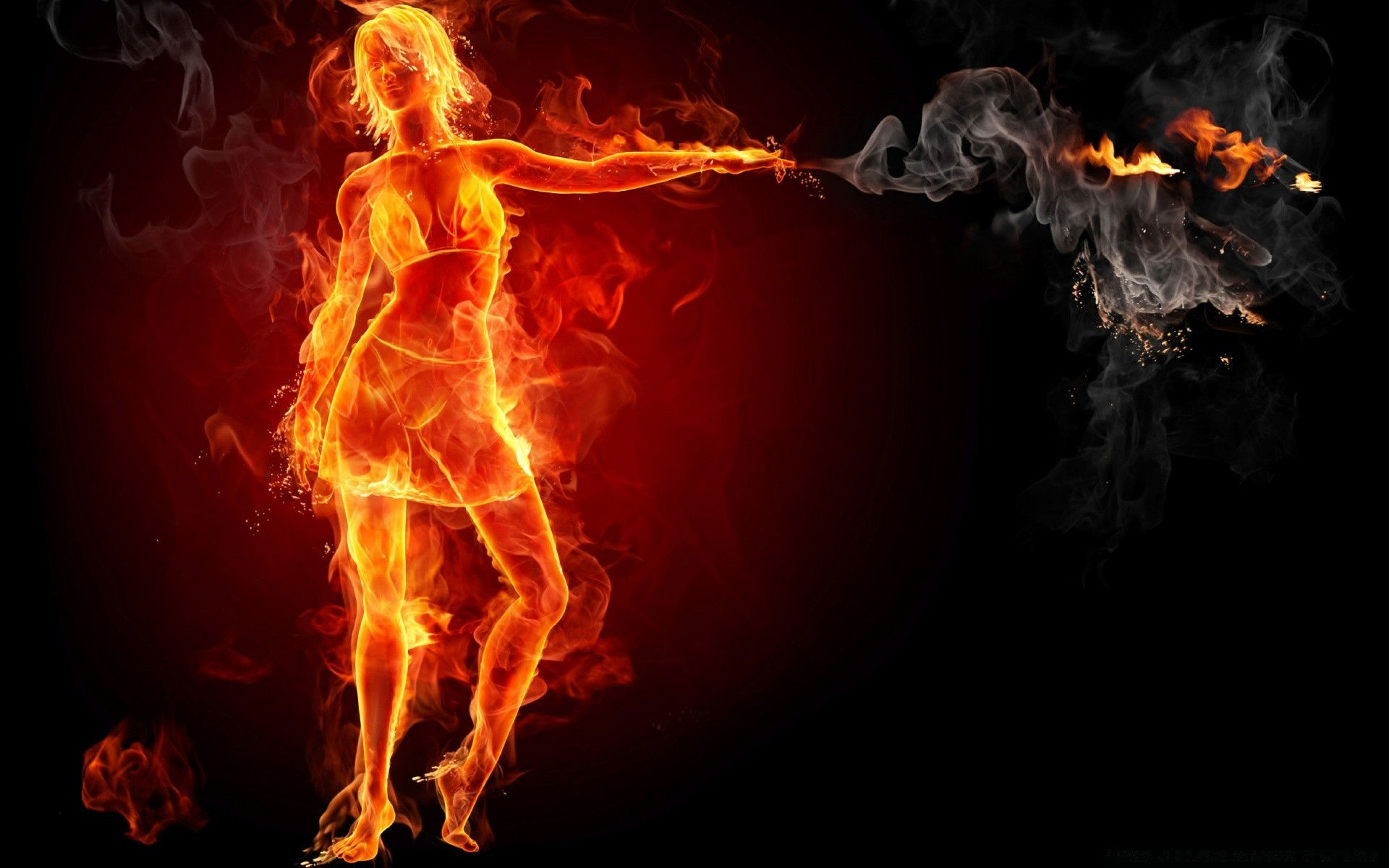 Hot Girl On Fire Phone Wallpapers
