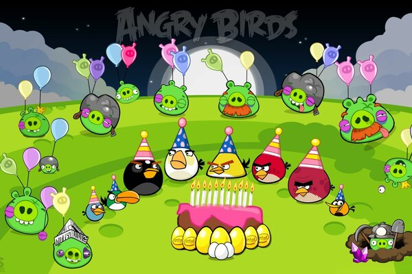 Angry Birds Party Night & End Pigs