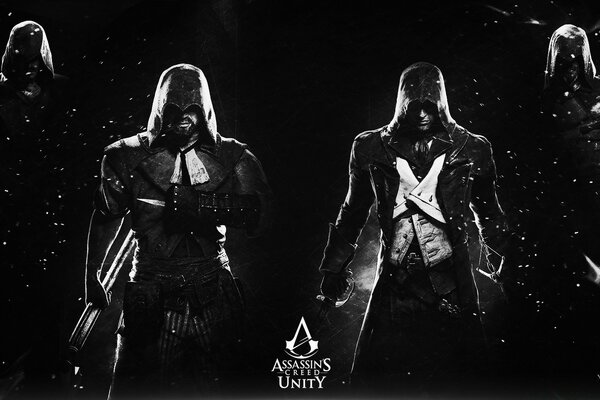 Assassins Creed Unity - Black and White