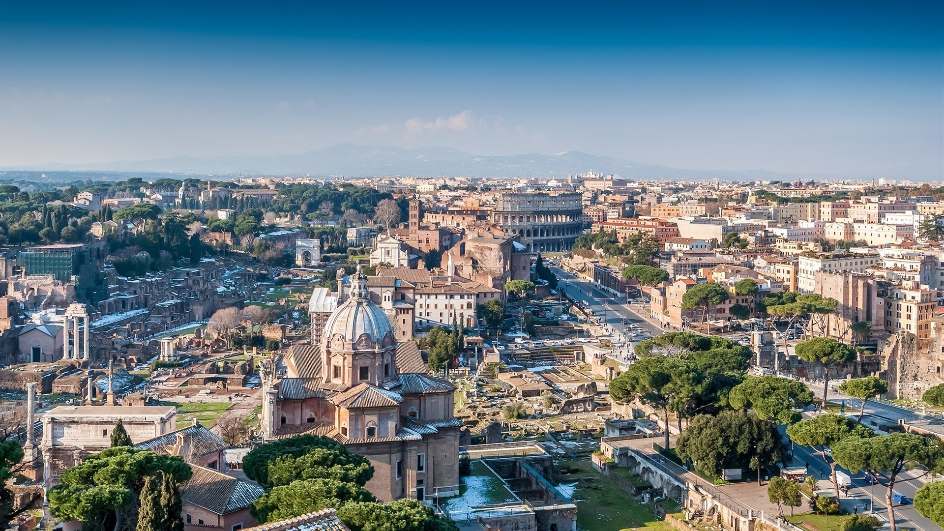 city architecture cityscape town church travel skyline sight panorama house roof panoramic building urban aerial landmark hill dome cathedral tourism