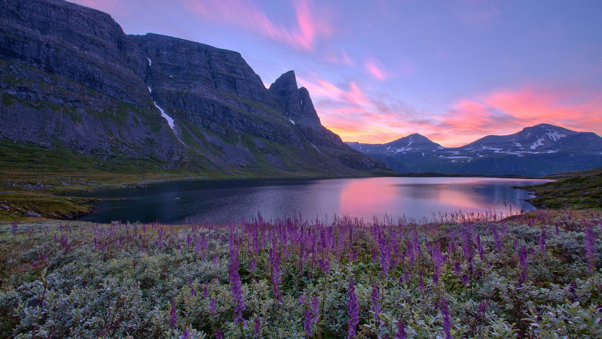 Dawn in the mountains of Norway