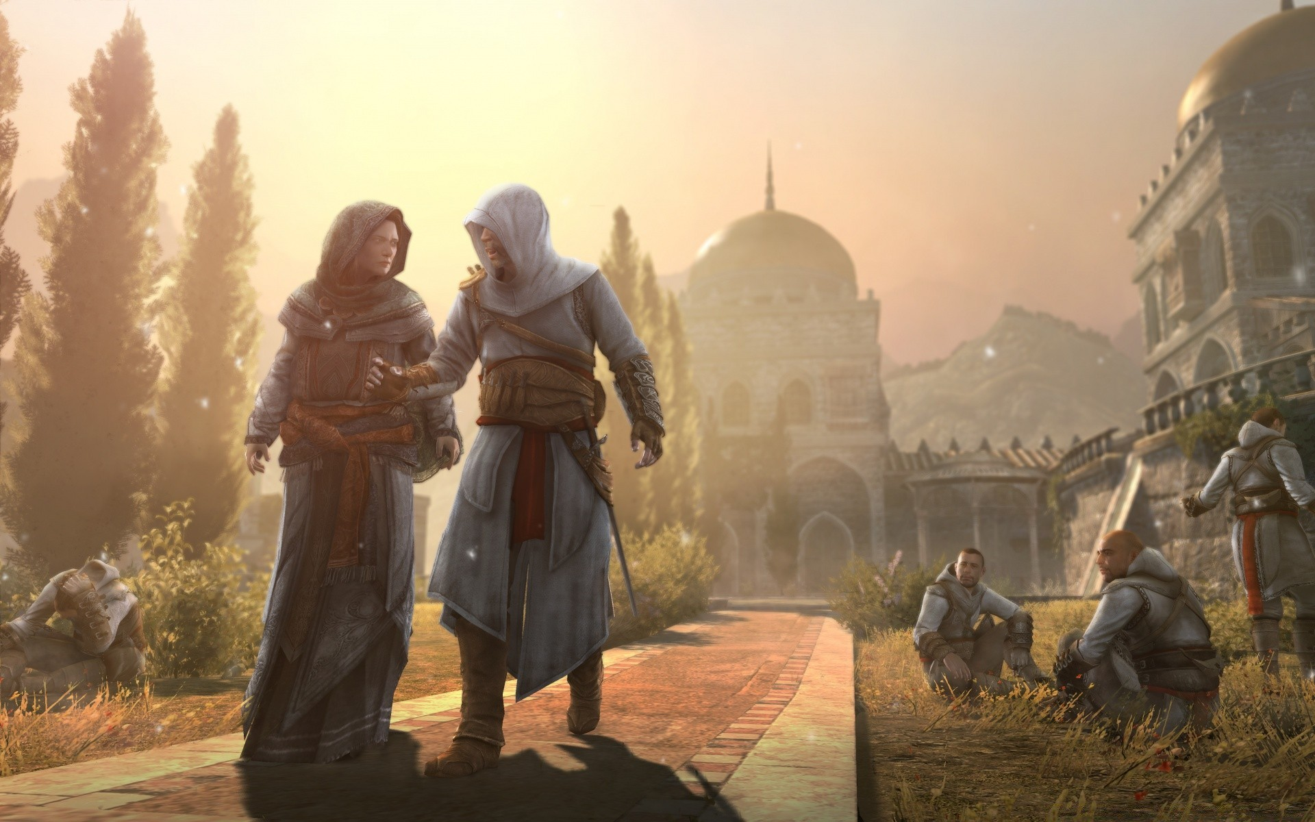 Assassins Creed Revelations Masyaf Maria Thorpe And Altair