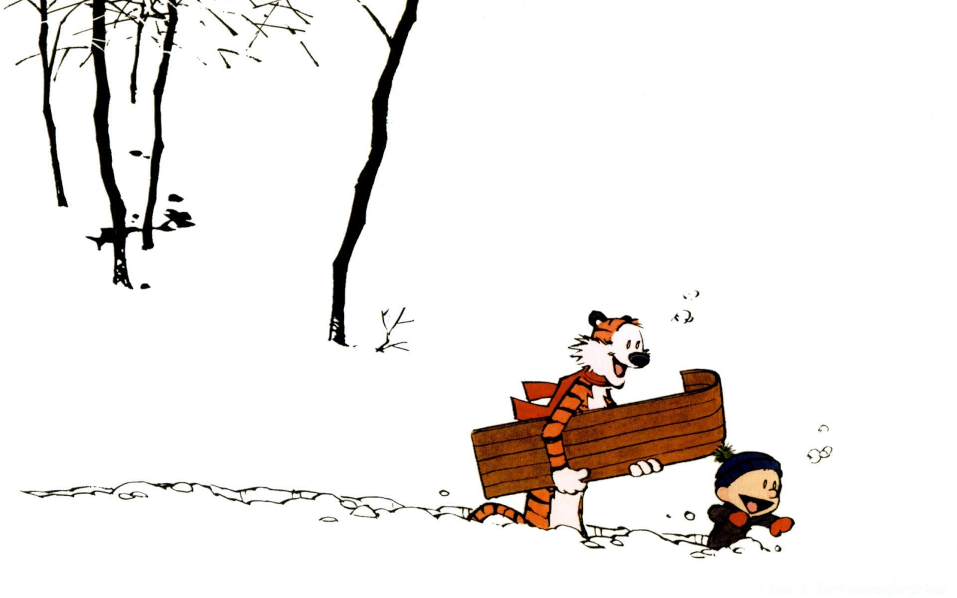 Calvin And Hobbes Winter Android Wallpapers