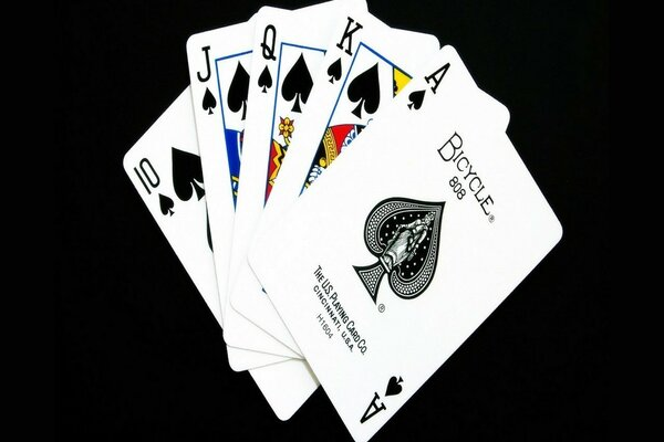 Poker. The combination of a Royal flush.