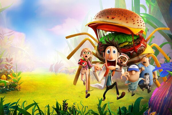 Cloudy With A Chance Of Meatballs 2 Spider Burger