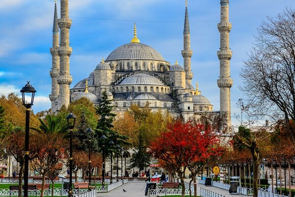 The mosque of Sultan Ahmed, Istanbul, Turkey