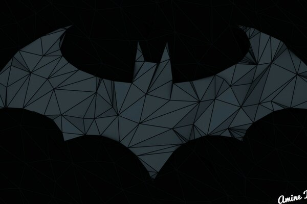 Batman Arkham Origins Low Poly Logo 2