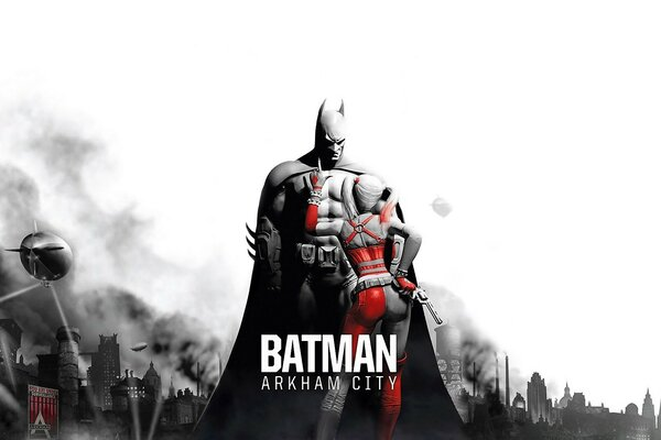 Batman Arkham City - Batman & Harley