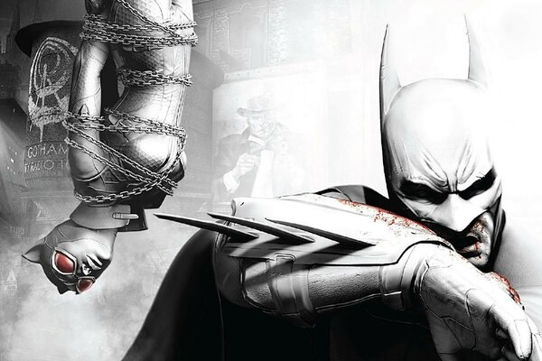 Batman Arkham City - Batman & Catwoman