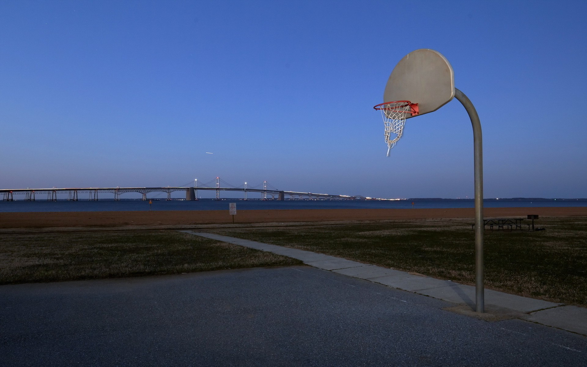 basketball sky landscape travel outdoors water