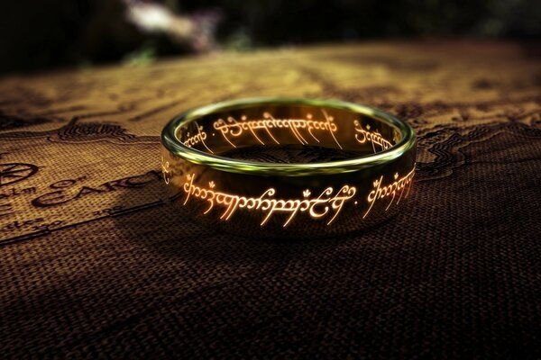 The one ring from the Lord of the Rings